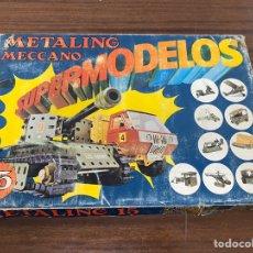 Juegos construcción - Meccano: METALING MECCANO 15 SUPERMODELOS. Lote 195124760
