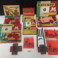 Juegos construcción - Meccano: ANTIGUO LOTE MECANO + MÁS REGALO MIRAR ULTIMA FOTO. Lote 196001206