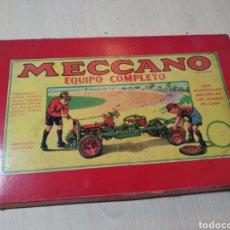 Juegos construcción - Meccano: CAJA MECCANO NÚMERO 0 CON ALGUNAS PIEZAS - AÑOS 60. Lote 196483956