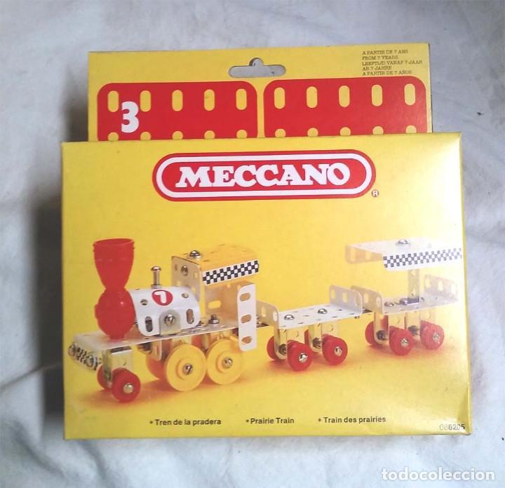 TREN DE LA PRADERA DE MECCANO MECANO 3 REF 6205, NUEVO A ESTRENAR RESTO TIENDA AÑO 1981 (Juguetes - Construcción - Meccano)