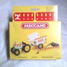 Juegos construcción - Meccano: TRACTOR AGRICOLA DE MECCANO MECANO 2 REF 86114, NUEVO A ESTRENAR RESTO TIENDA AÑO 1981. Lote 198467463