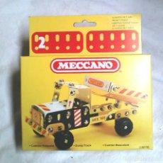 Juegos construcción - Meccano: CAMIÓN VOLQUETE DE MECCANO MECANO 2 REF 86115, NUEVO A ESTRENAR RESTO TIENDA AÑO 1981. Lote 198467536