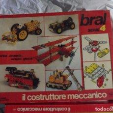 Juegos construcción - Meccano: BRAL SERIE 4 ART. 90004 MADE IN ITALY IL CONSTRUTTORE MECCANICO CON INSTRUCCIONES. Lote 198832911
