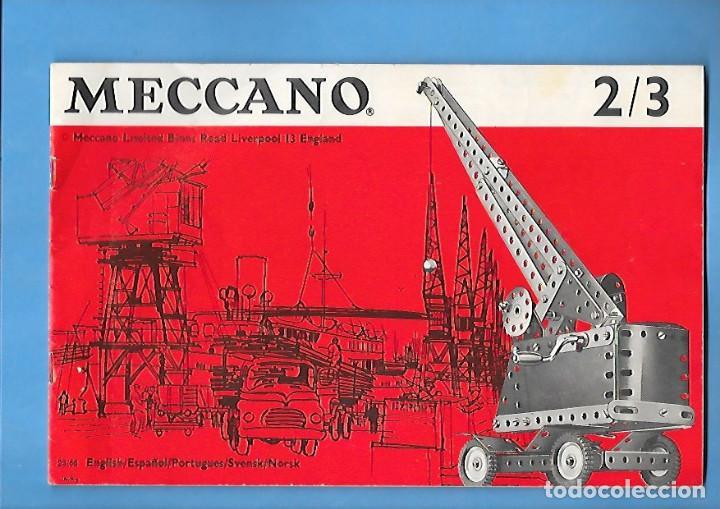 ANTIGUO FOLLETO DE INSTRUCCIONES DE MECCANO 2 / 3 (Juguetes - Construcción - Meccano)