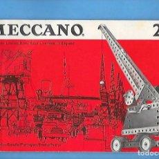 Juegos construcción - Meccano: ANTIGUO FOLLETO DE INSTRUCCIONES DE MECCANO 2 / 3. Lote 199934665
