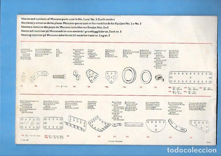 Juegos construcción - Meccano: ANTIGUO FOLLETO DE INSTRUCCIONES DE MECCANO 2 / 3 - Foto 2 - 199934665