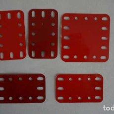 Juegos construcción - Meccano: LOTE DE PIEZAS ANTIGUAS DE MECCANO. Lote 199956788