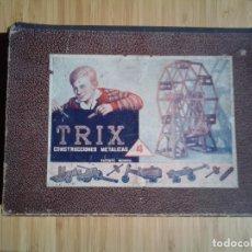 Juegos construcción - Meccano: TRIX - CONSTRUCCIÓNES METÁLICAS - NUMERO 1 - TIPO MECCANO - GORBAUD. Lote 200020542