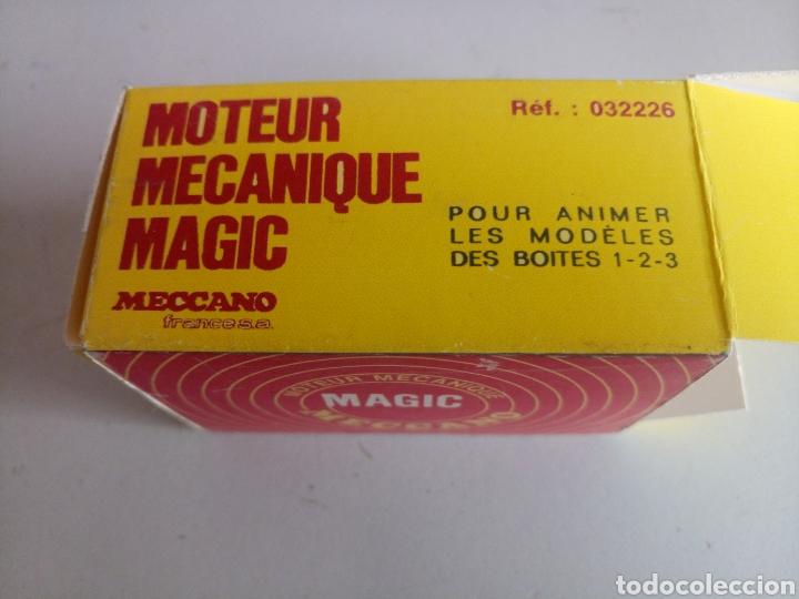 Juegos construcción - Meccano: Antiguo motor a resorte cuerda meccano Magic novedades poch caja repro reproducción funcionado bien - Foto 7 - 204323810
