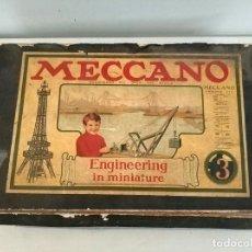 Juegos construcción - Meccano: MECCANO ENGINEERING IN MINIATURE 3 CON CATÁLOGO INSTRUCCIONES PRINCIPIOS S.XX DIFÍCIL DE ENCONTRAR. Lote 205732980