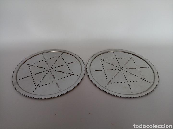 Juegos construcción - Meccano: 2 platos replica de la pieza 167 de meccano nuevos y sin uso. Hechos de acero inoxidable. - Foto 2 - 206761472
