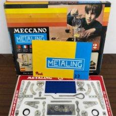 Juegos construcción - Meccano: MECCANO METALING CAJA 2 COMPLETA. Lote 206997427