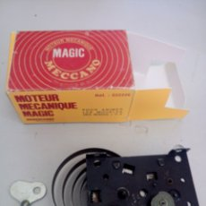 Juegos construcción - Meccano: ANTIGUO MOTOR A RESORTE CUERDA MECCANO MAGIC NOVEDADES POCH CAJA REPRO REPRODUCCIÓN FUNCIONADO BIEN. Lote 204323810