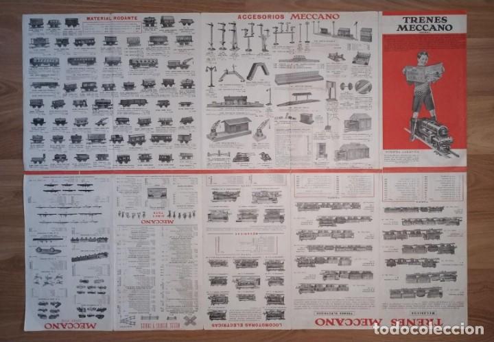 Juegos construcción - Meccano: CATALOGO DESPLEGABLE TRENES MECCANO HORNBY. - Foto 3 - 211461825