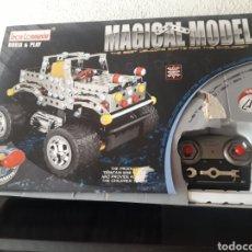 Juegos construcción - Meccano: COCHE TIPO MECCANO IRON COMMANDER MAGICAL MODEL RADIOCONTROL TELEDIRIGIDO TIPO JEEP. Lote 212702968