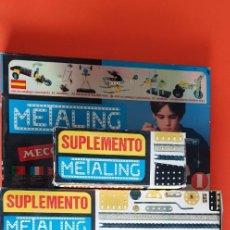 Juegos construcción - Meccano: METALING 1 + CAJAS COMPLEMENTARIAS 1A-3A-4A-5A-6A. 5 KG. POCAS SEÑALES DE USO.. Lote 213985440