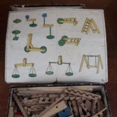 Juegos construcción - Meccano: JUEGO DE CONSTRUCCION AÑOS 30 MADERA. Lote 217229988