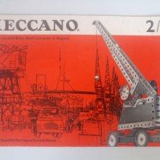Juegos construcción - Meccano: MANUAL DE INSTRUCCIONES MECCANO EQUIPOS 2 A 3 AÑOS 60 CON UNA HOJA SUELTA. Lote 218117720