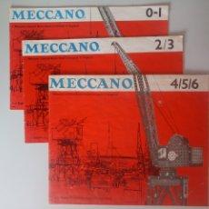 Juegos construcción - Meccano: MANUAL DE INSTRUCCIONES MECCANO 0/1, 2/3 Y 4/5/6 AÑOS 60 LETRAS AZULES PAPEL DE MÁS CALIDAD. Lote 218118866