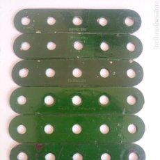 Juegos construcción - Meccano: 7 TIRAS DE 5 AGUJEROS MECCANO MARCADAS MECCANO REPINTADAS PIEZA NUM. 5. Lote 218178290