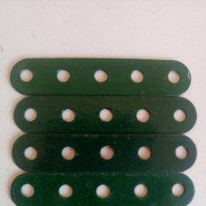Juegos construcción - Meccano: 5 TIRAS DE 5 AGUJEROS MECCANO REPINTADAS PIEZA NUM. 5. Lote 218179081