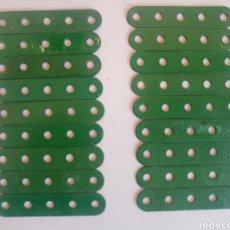 Juegos construcción - Meccano: 18 TIRAS DE 5 AGUJEROS MECCANO REPINTADAS PIEZA NUM. 5. Lote 218180695