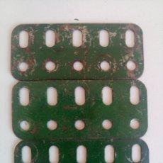 Juegos construcción - Meccano: 3 VIGUETAS PLANAS DE 5 AGUJEROS MECCANO PIEZA NUM. 103F. Lote 218184408