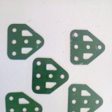 Juegos construcción - Meccano: 5 MUÑONES PLANOS MECCANO PIEZA 126A. Lote 218195018