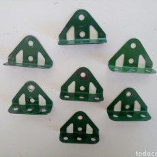 Juegos construcción - Meccano: 7 MUÑONES DOBLADOS MECCANO PIEZA 126. Lote 218195312
