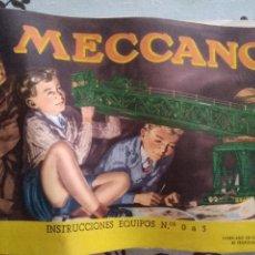 Juegos construcción - Meccano: MECCANO. CATALOGO INSTRUCCIONES. EQUIPOS 0 A 3. EN ESPAÑOL. Lote 218357015