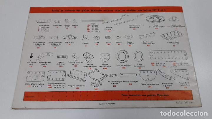 Juegos construcción - Meccano: MECCANO Nº 3 . FABRICADO EN FRANCIA . ORIGINAL AÑOS 70 - Foto 6 - 218475148