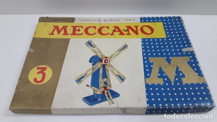 MECCANO Nº 3 . FABRICADO EN FRANCIA . ORIGINAL AÑOS 70 (Juguetes - Construcción - Meccano)