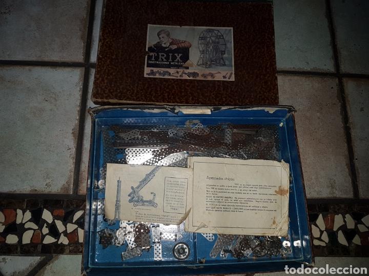 Juegos construcción - Meccano: TRIX.CONSTRUCCIONES METALICAS (TIPO MECANO) CAJA GRANDE - Foto 2 - 219178397