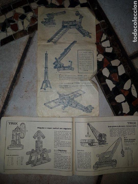 Juegos construcción - Meccano: TRIX.CONSTRUCCIONES METALICAS (TIPO MECANO) CAJA GRANDE - Foto 8 - 219178397