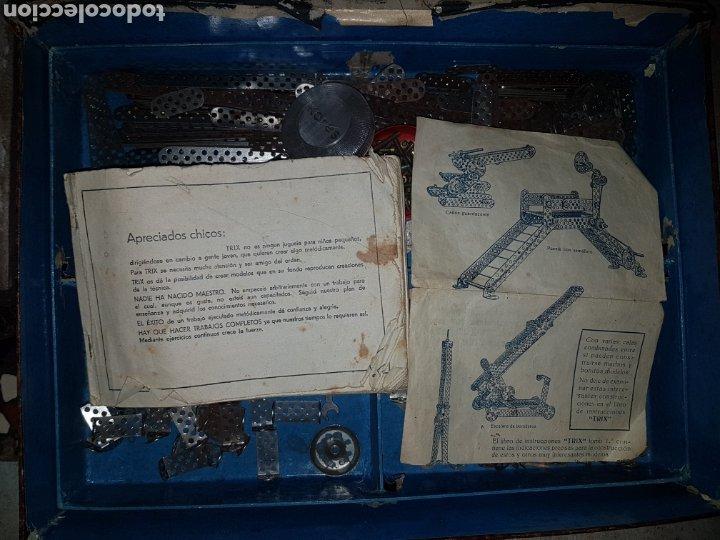 Juegos construcción - Meccano: TRIX.CONSTRUCCIONES METALICAS (TIPO MECANO) CAJA GRANDE - Foto 9 - 219178397