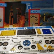 Juegos construcción - Meccano: METALING 4 SERIE ESPACIAL CON CATÁLOGOS 3-4 EN CAJA ORIGINAL. Lote 262656510