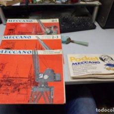 Juegos construcción - Meccano: LOTE CATALOGOS MECCANO. Lote 220400025