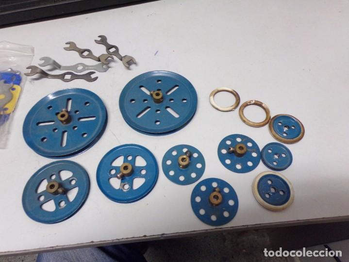 Juegos construcción - Meccano: gran lote piezas meccano , ruedas llaves etc - Foto 3 - 220405501