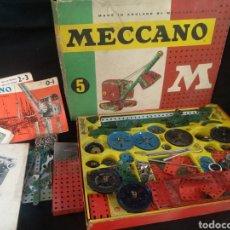Juegos construcción - Meccano: LOTE MECCANO. MECCANO 5. POSIBLEMENTE TENGA PIEZAS DE OTROS MECCANO. Lote 221297381