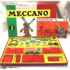 Juegos construcción - Meccano: MOLINO DE VIENTO MECCANO CAJA DE CONSTRUCCIÓN Nº 3, BUEN ESTADO AÑOS 60. Lote 225086586