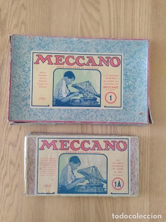 Juegos construcción - Meccano: Meccano Español. Años 30, contiene ticket de 1936. Creo que no falta ninguna pieza. Negociable. - Foto 2 - 225115468
