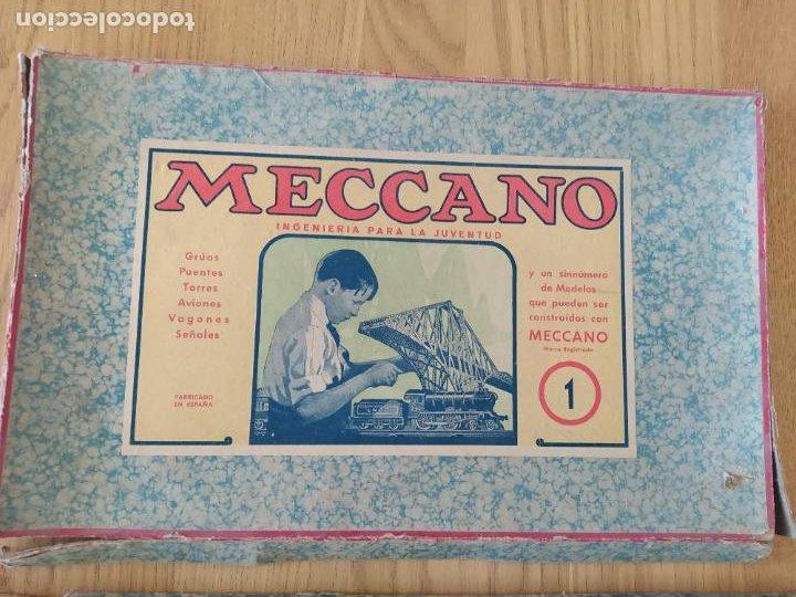 Juegos construcción - Meccano: Meccano Español. Años 30, contiene ticket de 1936. Creo que no falta ninguna pieza. Negociable. - Foto 3 - 225115468