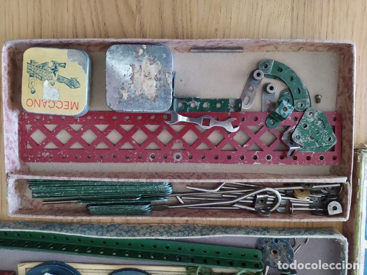 Juegos construcción - Meccano: Meccano Español. Años 30, contiene ticket de 1936. Creo que no falta ninguna pieza. Negociable. - Foto 5 - 225115468