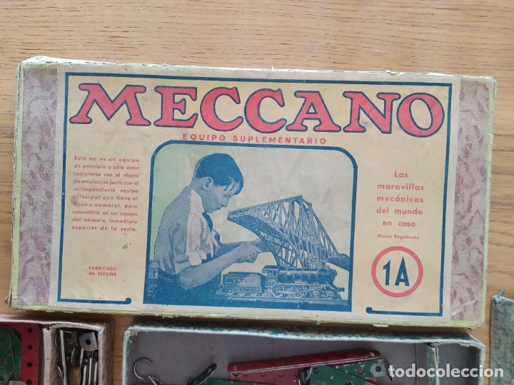 Juegos construcción - Meccano: Meccano Español. Años 30, contiene ticket de 1936. Creo que no falta ninguna pieza. Negociable. - Foto 6 - 225115468