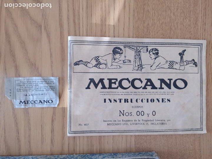 Juegos construcción - Meccano: Meccano Español. Años 30, contiene ticket de 1936. Creo que no falta ninguna pieza. Negociable. - Foto 8 - 225115468