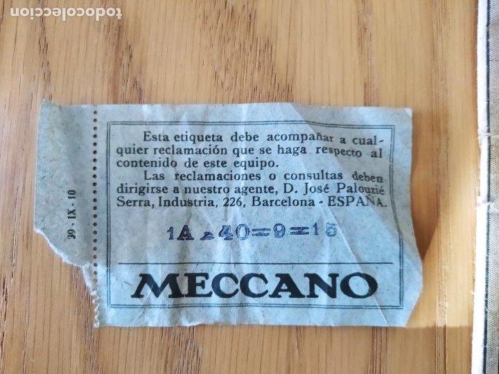 Juegos construcción - Meccano: Meccano Español. Años 30, contiene ticket de 1936. Creo que no falta ninguna pieza. Negociable. - Foto 9 - 225115468
