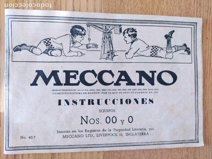 Juegos construcción - Meccano: Meccano Español. Años 30, contiene ticket de 1936. Creo que no falta ninguna pieza. Negociable. - Foto 10 - 225115468