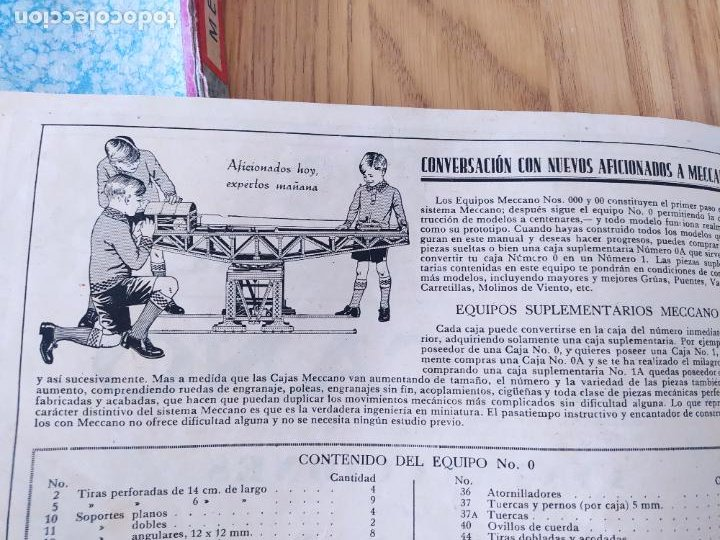 Juegos construcción - Meccano: Meccano Español. Años 30, contiene ticket de 1936. Creo que no falta ninguna pieza. Negociable. - Foto 11 - 225115468
