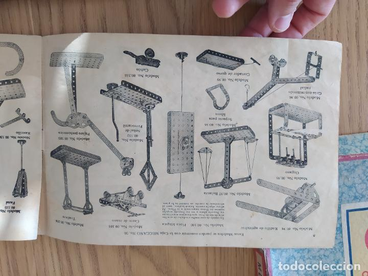 Juegos construcción - Meccano: Meccano Español. Años 30, contiene ticket de 1936. Creo que no falta ninguna pieza. Negociable. - Foto 13 - 225115468