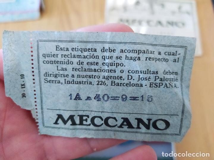 Juegos construcción - Meccano: Meccano Español. Años 30, contiene ticket de 1936. Creo que no falta ninguna pieza. Negociable. - Foto 14 - 225115468